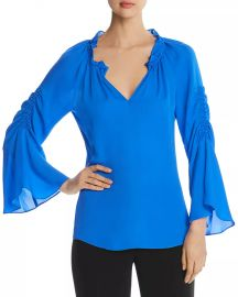 Kobi Halperin Carolina Bell-Sleeve Silk Blouse Women - Bloomingdale s at Bloomingdales
