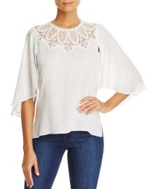 Kobi Halperin Embroidered Cape Overlay Blouse at Bloomingdales
