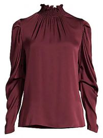 Kobi Halperin - Anderson Stretch-Silk Mockneck Blouse at Saks Fifth Avenue