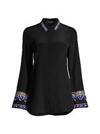 Kobi Halperin - Monica Embroidered Sleeve Blouse at Saks Fifth Avenue