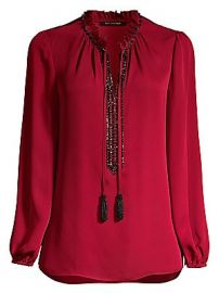 Kobi Halperin - Paula Embellished Silk Blouse at Saks Fifth Avenue