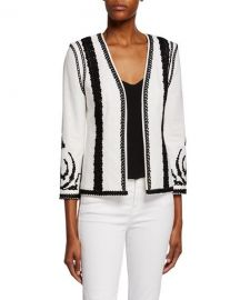 Kobi Halperin Camila Embroidered Open-Front Jacket at Neiman Marcus