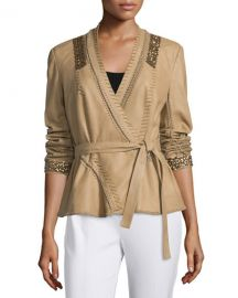Kobi Halperin Colette Leather Whipstitch Jacket at Neiman Marcus