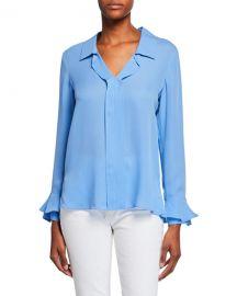 Kobi Halperin Maisie Long-Sleeve Silk Blouse at Neiman Marcus
