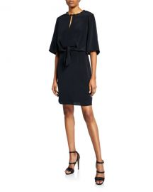 Kobi Halperin Mallory Elbow-Sleeve Silk Dress at Neiman Marcus