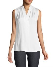 Kobi Halperin Mila Silk-Stretch Sleeveless Top at Neiman Marcus