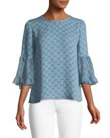 Kobi Halperin Nea Floral-Print Silk Blouse at Neiman Marcus