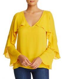 Kobi Halperin Ryann Ruffle Bell Sleeve Silk Blouse Women - Bloomingdale s at Bloomingdales