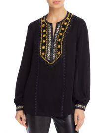 Kobi Halperin Sandi Embellished Silk Blouse Women - Bloomingdale s at Bloomingdales
