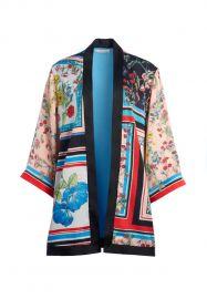 Koko Patchwork Printed Kimono at Alice + Olivia