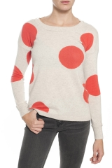 Kokun Large Polka Dot Sweater at Madison LA