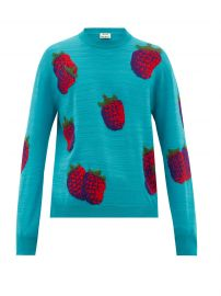 Koray intarsia-raspberry wool-blend at Matches