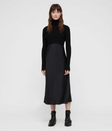 Kowlo Roll Neck Dress at All Saints