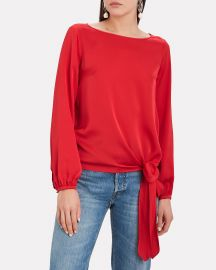 Kristy Knotted Silk Blouse at Intermix