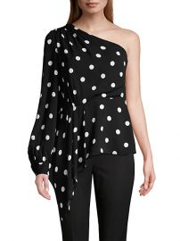 Kristy Polka Dot One-Shoulder Top by Elie Tahari at Saks Off 5th