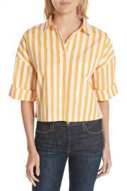 Kule   The Keaton Stripe Crop Shirt   Nordstrom Rack at Nordstrom Rack