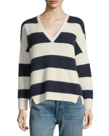 Kule Addison V-Neck Long-Sleeve Striped Sweater   Neiman Marcus at Neiman Marcus