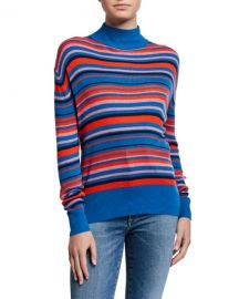 Kule The Marlene Striped Turtleneck Sweater at Neiman Marcus