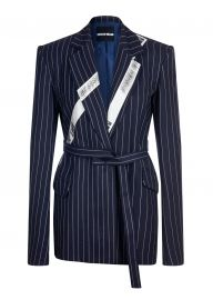 Kylie\\\'s pinstripe blazer at House of Holland