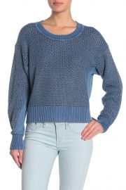 Kyra Metallic Crew Neck Sweater by Rag Bone at Nordstrom Rack