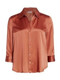 L  039 Agence - Dani Silk Three-Quarter Sleeve Blouse at Saks Fifth Avenue