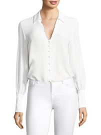 L  039 Agence - Naomi Button-Loop Silk Blouse at Saks Fifth Avenue