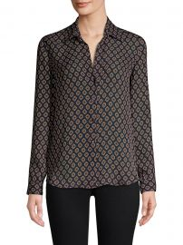 L  39 Agence - Nina Button-Front Blouse - saks com - Saks Fifth Avenue at Saks Fifth Avenue