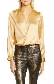 L  x27 AGENCE Marcella Silk Charmeuse Bodysuit   Nordstrom at Nordstrom