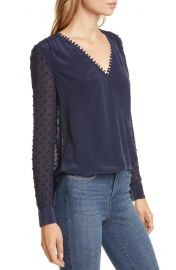 L  x27 AGENCE Perry Fabric Blocked Blouse   Nordstrom at Nordstrom