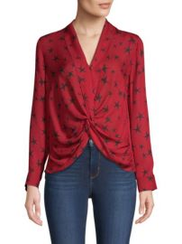 L\'Agence Mariposa Star Print Blouse at Saks Fifth Avenue