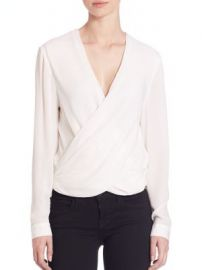 L AGENCE - Silk Snap-Back Blouse at Saks Fifth Avenue