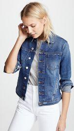 L  039 AGENCE Celine Slim Fit Distressed Jacket at Shopbop