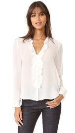 L  039 AGENCE Guilietta Ruffle Blouse at Shopbop