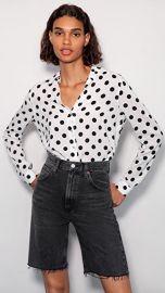 L  039 AGENCE Holly Long Sleeve Blouse at Shopbop