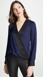 L  039 AGENCE Kyla Draped Blouse at Shopbop