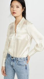 L  039 AGENCE Naomi Button Loop Blouse at Shopbop