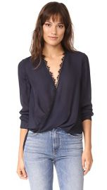 L  039 AGENCE Rosario Blouse with Lace at Shopbop