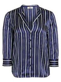 L  039 Agence - Aoki Pinstripe Silk Blouse at Saks Fifth Avenue