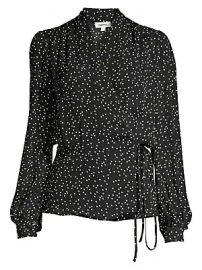 L  039 Agence - Cara Polka Dot Wrap Blouse at Saks Fifth Avenue
