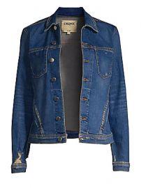 L  039 Agence - Celine Distressed Denim Jacket at Saks Fifth Avenue