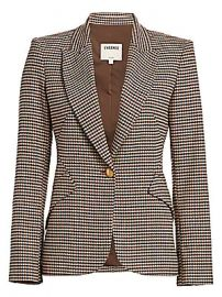 L  039 Agence - Chamberlain Houndstooth Blazer at Saks Fifth Avenue