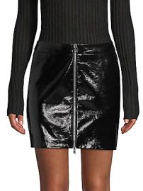 L  039 Agence - Claudia Leather Zip Mini Skirt at Saks Off 5th