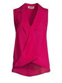 L  039 Agence - Freja Draped Silk Blouse at Saks Fifth Avenue