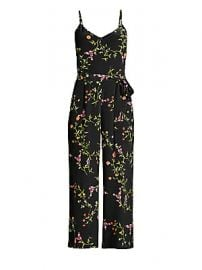 L  039 Agence - Jaelyn Silk Floral Jumpsuit at Saks Fifth Avenue