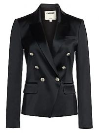 L  039 Agence - Kenzie Satin Blazer at Saks Fifth Avenue