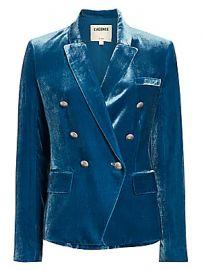L  039 Agence - Kenzie Velvet Double-Breasted Blazer at Saks Fifth Avenue