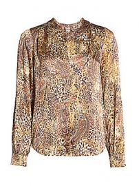 L  039 Agence - Leopard  amp  Paisley Print Blouse at Saks Fifth Avenue