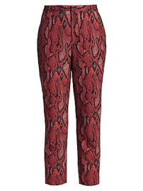 L  039 Agence - Ludvine Snake Print Trousers at Saks Fifth Avenue