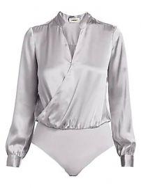 L  039 Agence - Marcella Silk Bodysuit at Saks Fifth Avenue