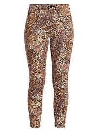 L  039 Agence - Margot Valencia High-Rise Print Ankle Skinny Jeans at Saks Fifth Avenue